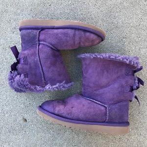 Kids Purple Bailey Bow Boots
